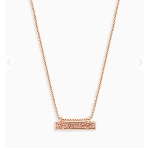 Kendra Scott Leanor Drusy Pendant Rose Gold